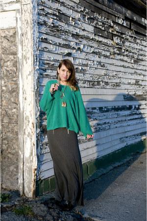 calvin klein sweater - Cheap Monday skirt - thrift boots