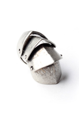 silver antique silver Stil ring