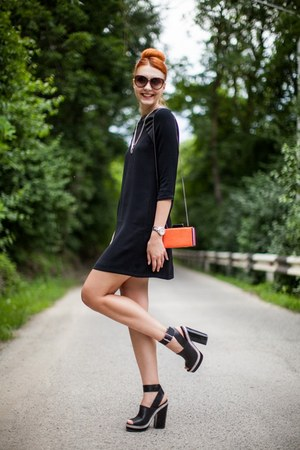 black Zara dress