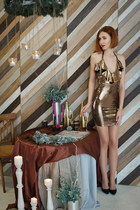 tawny asos dress