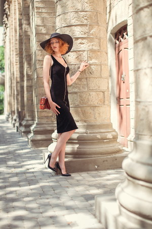 black Stradivarius dress