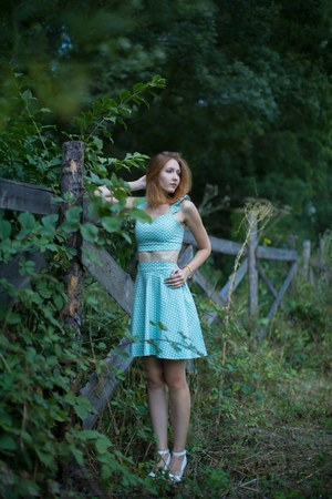 sky blue kimono dress