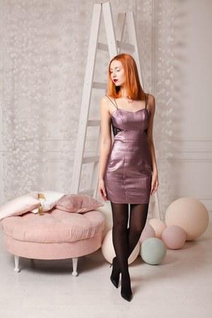 maroon asos dress