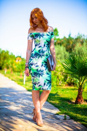 chartreuse asos dress