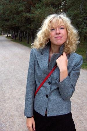 vintage blazer - vintage bag - Vero Moda skirt