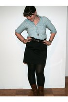 Gap shirt - Loft skirt - hm boots
