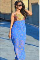 blue blue maxi dress dress