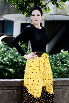 Yellow High Waist Ankara African Summer Print Maxi Skirt