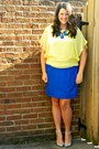 Blue-j-crew-skirt-light-yellow-ann-taylor-top-blue-anthropologie-necklace