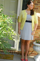 light yellow Target cardigan - navy Francescas Collection dress