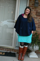 navy Couture Crush cape - tawny endlesscom boots - cream Target socks