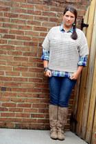 navy Shoedazzle bracelet - camel Ebay boots - blue Old Navy jeans