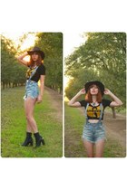 Jeffrey Campbell boots - wutang Forever 21 shirt - overalls UNIF romper