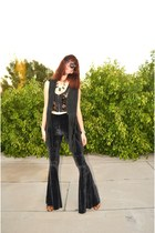 fork choker A Tiny Touch necklace - madewell boots - crop top free people top