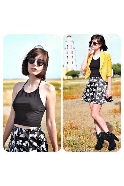 crimson cat print Chicwish skirt