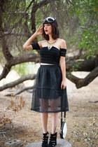 black top and skirt Blak Label skirt