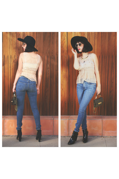 bag Onna Ehlrich bag - boots Zara boots - denim James Jeans jeans