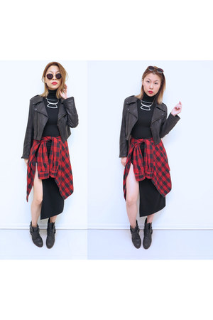 Urban Outfitters boots - A GAME ARTISTS dress - Forever 21 shirt