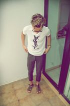 Ray Ban glasses - YSL t-shirt - vintage jeans - Ulanka shoes