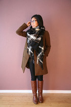 H&M scarf - brown Target boots - army green madewell coat