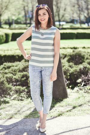 nude Primark heels - periwinkle Forever 21 jeans