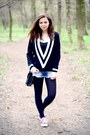 Black-romwe-sweater-black-primark-tights-black-primark-bag