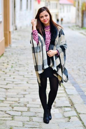 black humanic boots - camel Primark coat - maroon Primark blouse