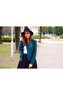 Black-deichmann-shoes-black-new-yorker-hat-forest-green-forever-21-jacket