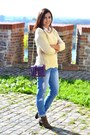 Dark-khaki-shana-boots-blue-new-look-jeans-beige-oasap-sweater