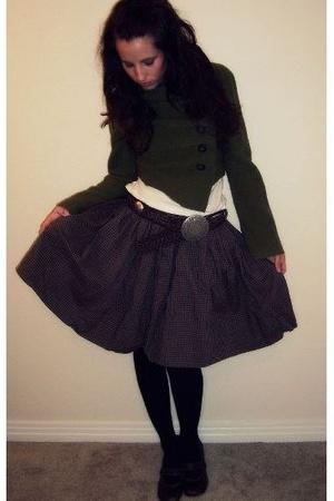 Anthropologie sweater - vintage skirt