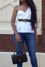 One-shouldered-missguided-blazer-leather-gucci-belt