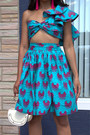 Blue-african-print-grass-fields-top-blue-african-print-grass-fields-skirt
