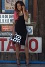 Black-slit-nasty-gal-dress-black-fold-over-front-row-shop-bag