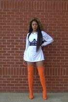 carrot orange otk Shoe Republic boots - carrot orange backpack poster girl bag
