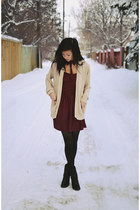 maroon GoodNight Macaroon dress