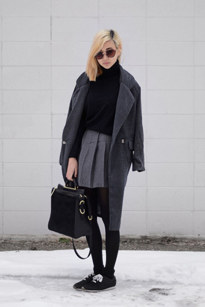 gray Choies coat - black Dimmi shoes - black 31 Phillip Lim bag
