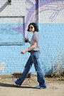 Sky-blue-flared-r13-jeans-white-new-classics-studios-t-shirt