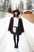 white good koop bag - black pointed-toe Choies boots - black Sheinside dress