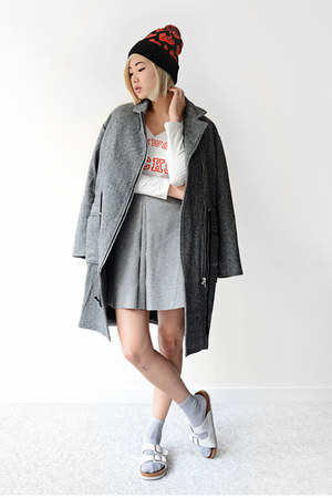 charcoal gray Front Row Shop jacket