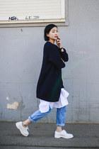 light blue high-waisted Samuji jeans