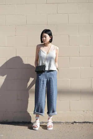sky blue wide leg New Classics Studios pants