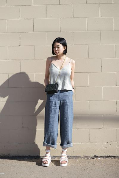 sky blue wide leg New Classics Studios pants