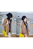 yellow boxy bag bag