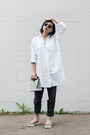 White-button-up-suzanne-rae-dress-silver-foldover-smk-bag