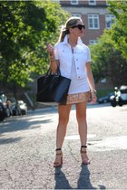 Forever 21 skirt - Zara bag - House of Harlow 1960 sunglasses - Old Navy vest
