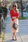 Gray-ann-taylor-bag-black-house-of-harlow-1960-sunglasses-red-loft-blouse