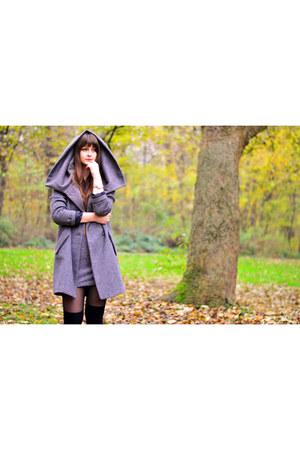 heather gray coat - heather gray dress