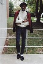 53bdc68463aee lifetime collective jacket - indigo Old Navy jeans - beret asos hat