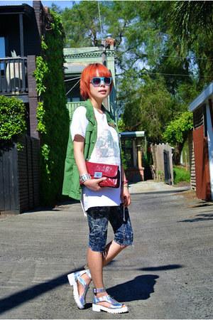 romwe bracelet - cotton on sunglasses - asos sandals