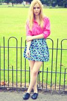 vintage skirt - vintage blouse - Primark flats